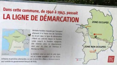 Walking in France: The old line of demarcation