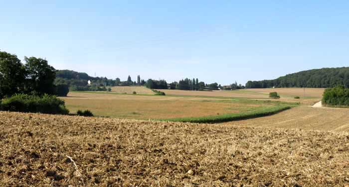 Walking in France: The village of Chaulgnes in the distance