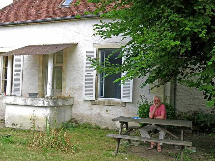 Walking in France: Relaxing in the gîte's garden