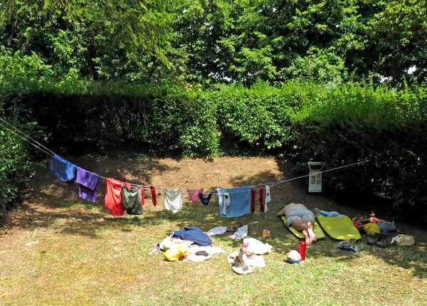 Walking in France: Time for a doze