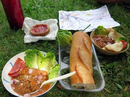 Walking in France: Our delicious picnic lunch