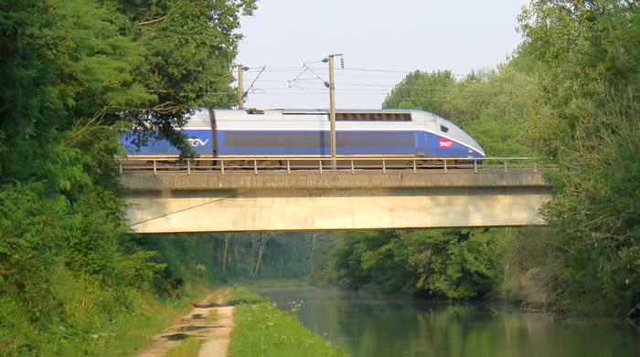 Walking in France: A low flying TGV