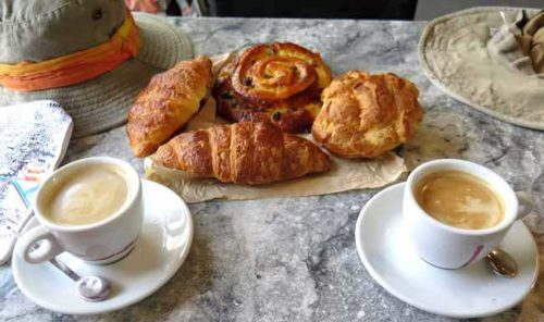 Walking in France: Our pastries, including another gougère