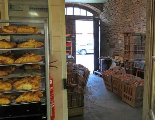 Walking in France: In the boulanger's workroom