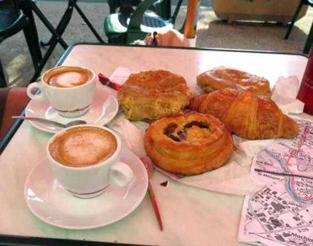 Walking in France: Breakfast in Gurgy
